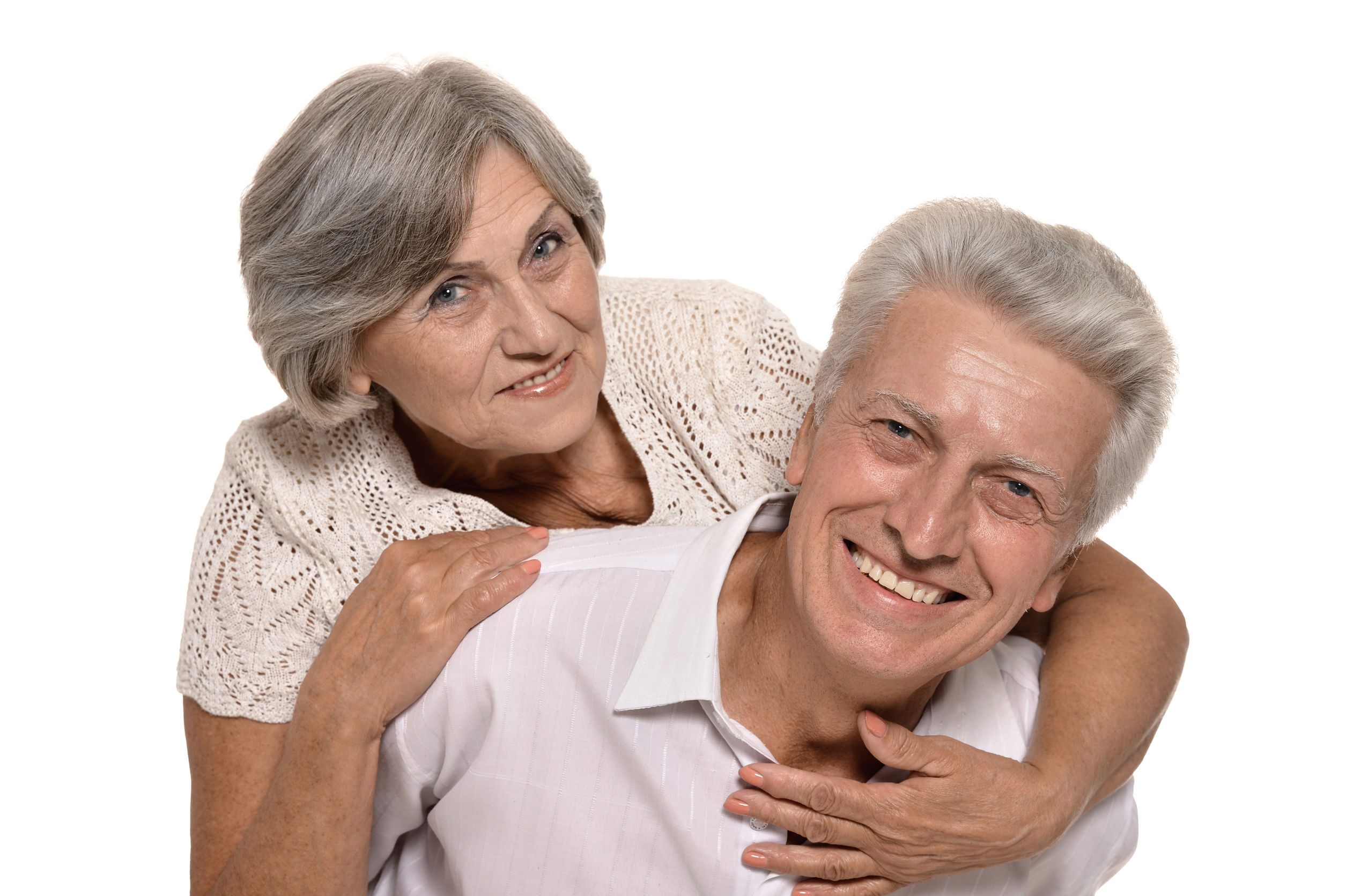 happy smiling old couple